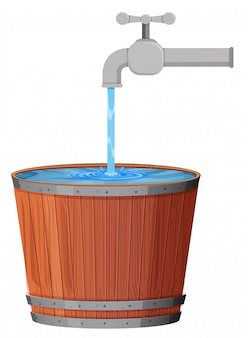 Een waterdruppel in emmer