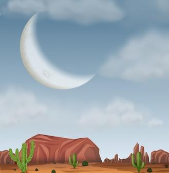 Een westelijke woestijnachtergrond