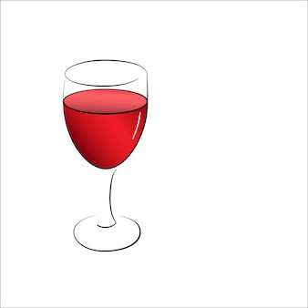 Een wijnglas rode wijn
