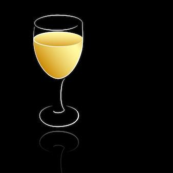 Een wijnglas witte wijn
