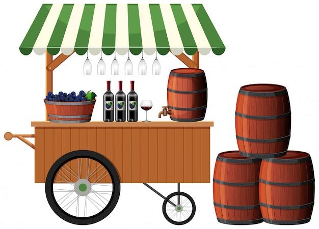 Een wijnwinkelkraam
