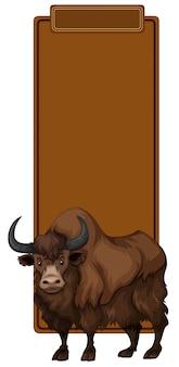 Een yak op lege sjabloon