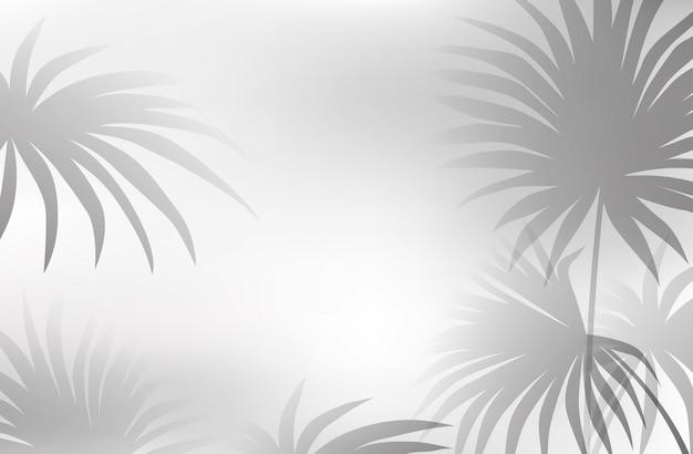 Een zwart-witte bladachtergrond