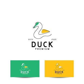 Eend logo ontwerpconcept