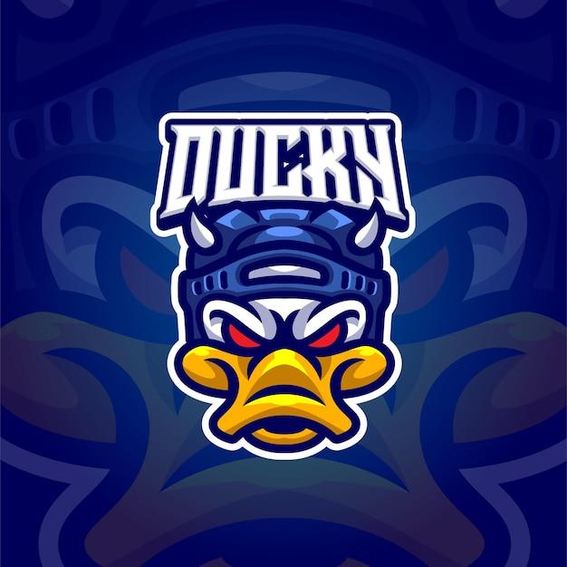 Eend mascotte logo sjabloon