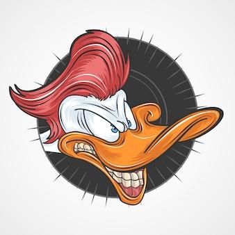 Eend rood haar