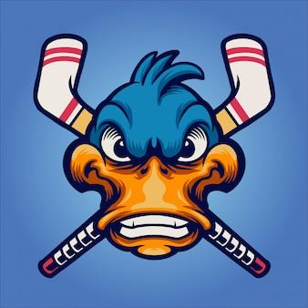 Eend voor hockeymascotte