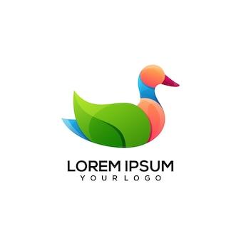 Eendenblad logo ontwerp kleurrijk