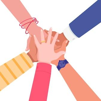 Eenheid en teamwerk concept