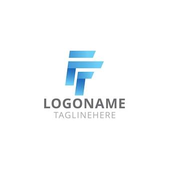 Eenheid letter f modern logo design
