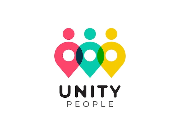 Eenheid mensen logo concept