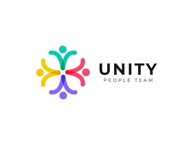 Eenheid mensen team werk logo ontwerpconcept