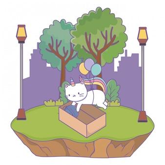 Eenhoorn kat cartoon