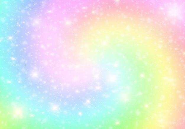 Eenhoorn kleur verloop universum achtergrond.
