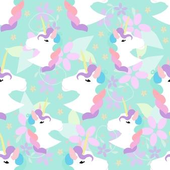 Eenhoorn patroon achtergrond
