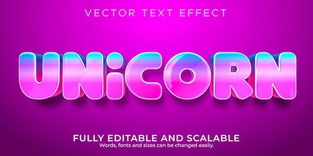 Eenhoorn roze teksteffect