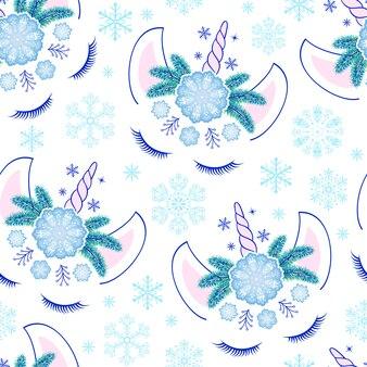 Eenhoorns en sneeuwvlokken