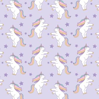 Eenhoorns patronen achtergrond