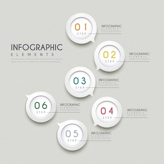 Eenvoud infographic ontwerp met tekstballon elementen