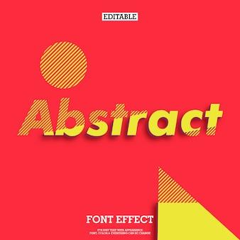 Eenvoudig abstrac modern lettertype-effect voor poster- en spandoekontwerp