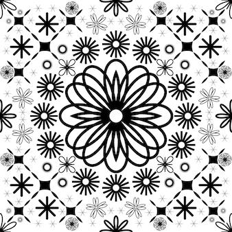 Eenvoudig abstract naadloos bloemenpatroon geometrisch patroon geplaatst vectorillustratie