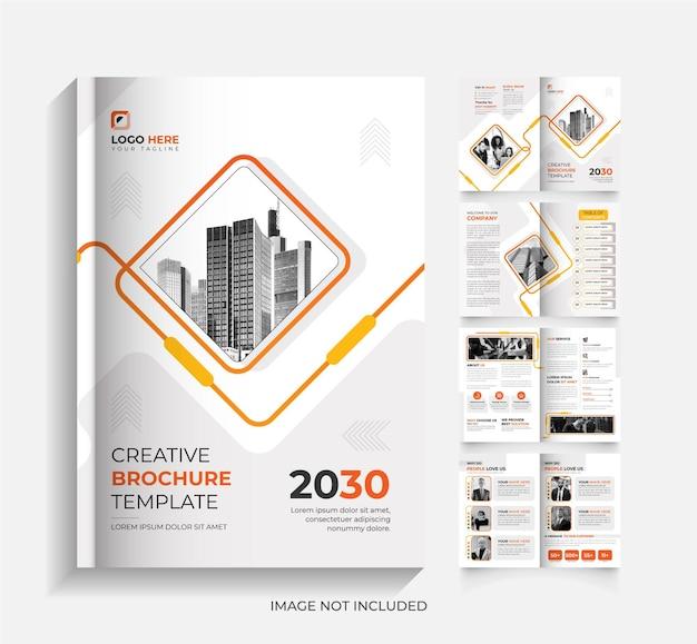 Eenvoudig bedrijfsbrochuresjabloon met 8 pagina's