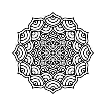 Eenvoudig bewerkbare en aanpasbare mandala-achtergrond