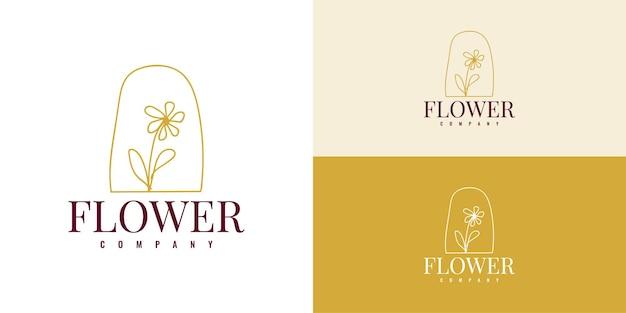 Eenvoudig bloemen logo illustratie sjabloonontwerp