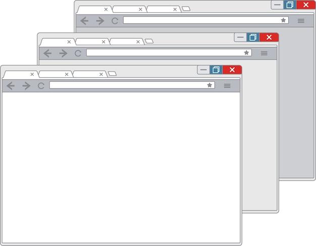 Eenvoudig browservenster op witte achtergrond.