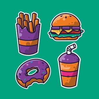 Eenvoudig bundelontwerp voor junkfood