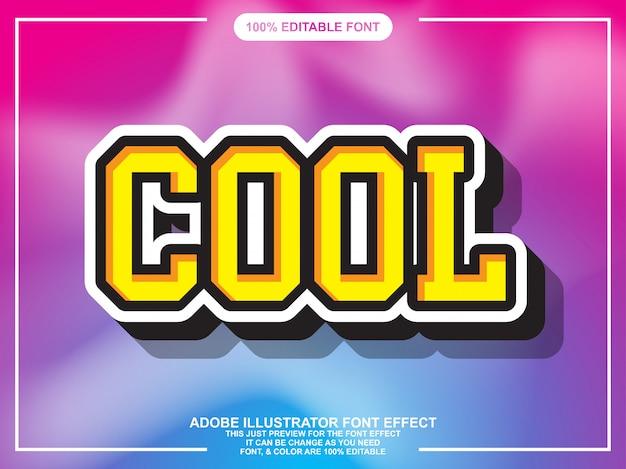 Eenvoudig cool sticker lettertype-effect