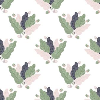 Eenvoudig decoratief naadloos patroon met bladornament.