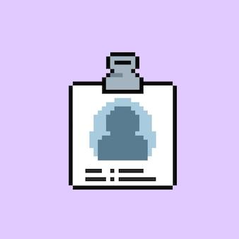 Eenvoudig document met persoonlijke gegevens met pixelkunststijl