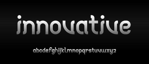Eenvoudig elegant modern alfabet lettertype. typografie stedelijke stijl lettertypen voor technologie, digitaal, filmlogo-ontwerp
