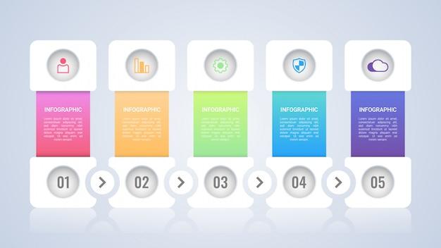 Eenvoudig en modern infographic sjabloon