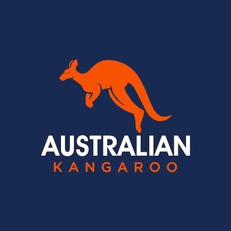 Eenvoudig en modern kangoeroe-logo voor bedrijfsteam enz