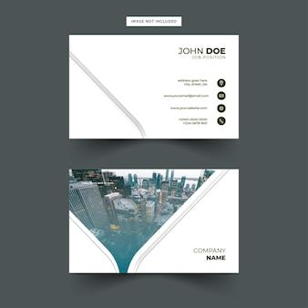 Eenvoudig en modern visitekaartjeontwerp
