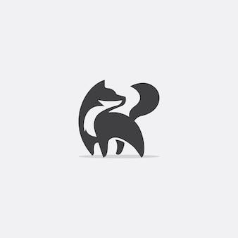 Eenvoudig fox-logo