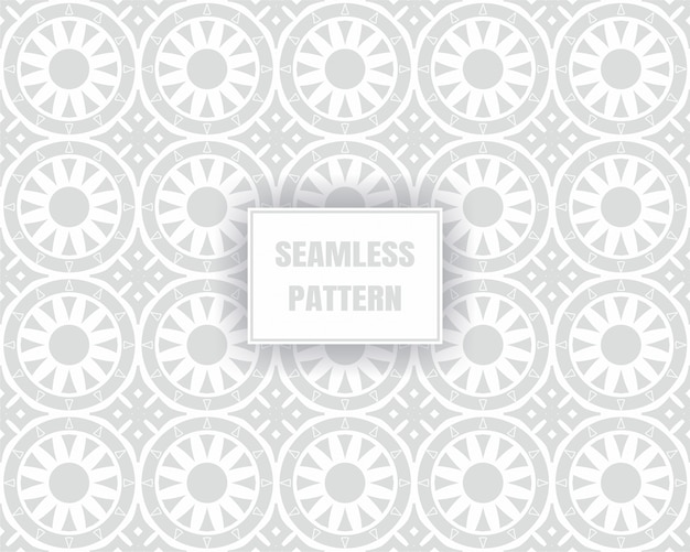 Eenvoudig grijs naadloos patroon, op een witte achtergrond