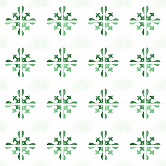 Eenvoudig groen azulejo naadloos patroon