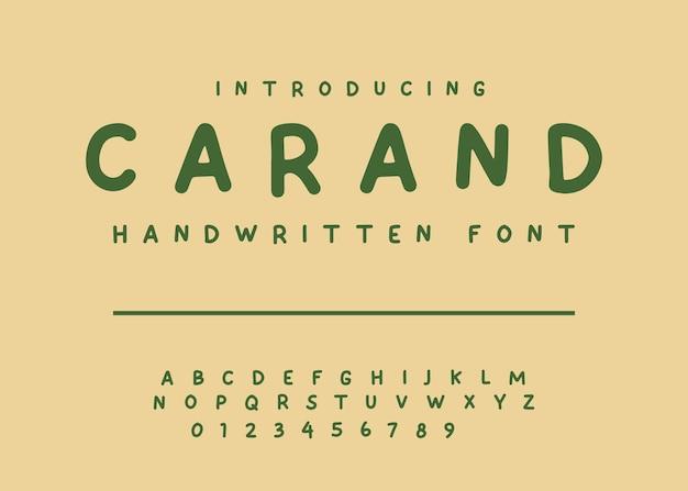 Eenvoudig handgeschreven lettertype vector