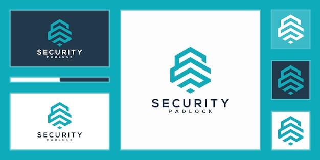 Eenvoudig hexagon s eerste vergrendelingslogo, security s eerste logo vectorillustratie