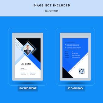 Eenvoudig identiteitskaart sjabloonontwerp