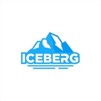 Eenvoudig ijsberg berg logo natuur vector