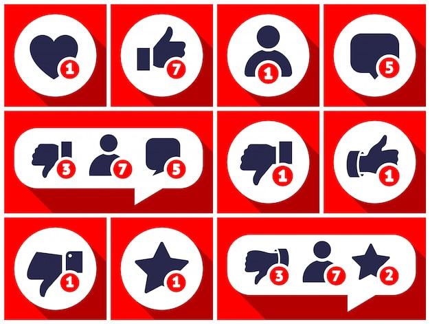Eenvoudig ingesteld pictogram met gebruikersfeedback