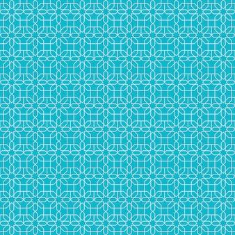 Eenvoudig islamitisch geometrisch naadloos patroonbehang als achtergrond