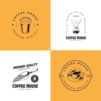 Eenvoudig koffie logo-ontwerp