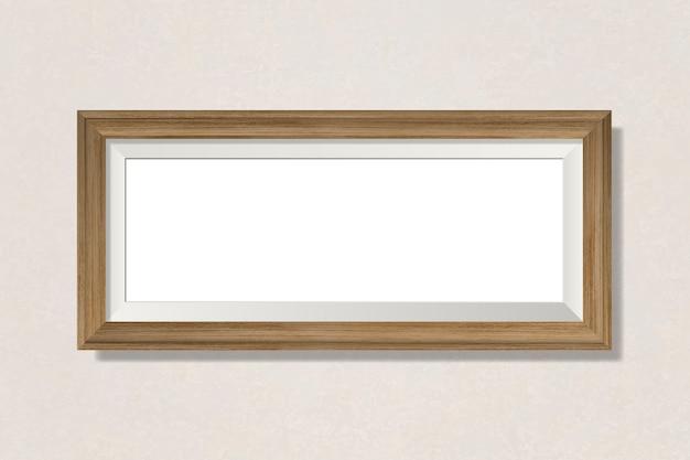 Eenvoudig leeg frame op de muur