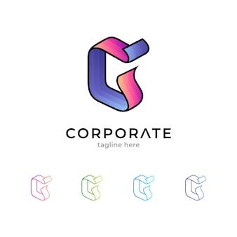 Eenvoudig letter g-logo geïsoleerd op wit