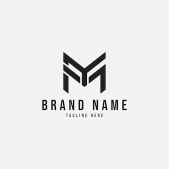 Eenvoudig letter mijn logo-ontwerp
